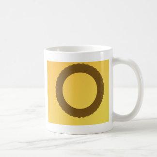 circle in brown earth abstract mug