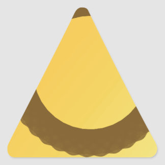 circle in brown earth abstract triangle sticker