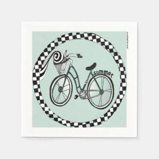 Circle in Square Bike Paper Napkin