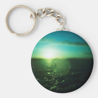 Circle in Square - medium format analog Hasselblad Basic Round Button Keychain