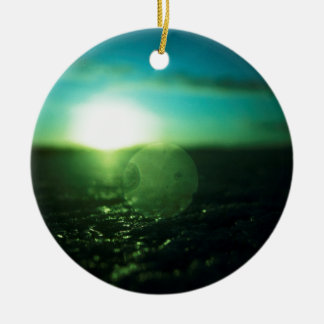 Circle in Square - medium format analog Hasselblad Double-Sided Ceramic Round Christmas Ornament