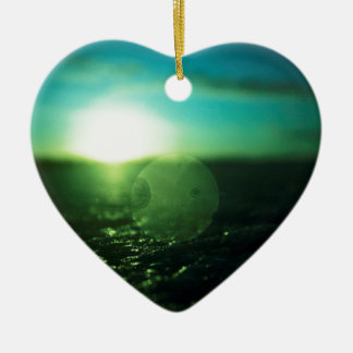 Circle in Square - medium format analog Hasselblad Double-Sided Heart Ceramic Christmas Ornament