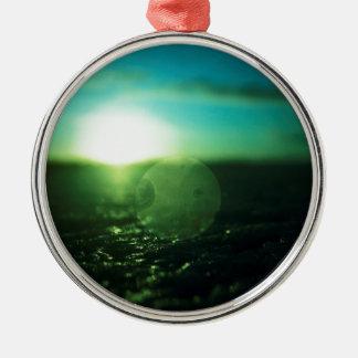 Circle in Square - medium format analog Hasselblad Round Metal Christmas Ornament