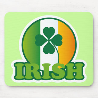 Circle Irish Flag St. Patrick's Design Mouse Pads