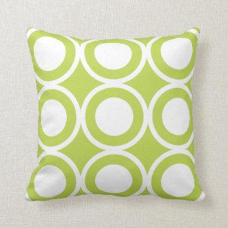 Circle Lattice Kiwi Pillows