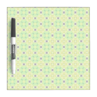 Circle Lattice of Floral Lime Green Modern Quilt Dry-Erase Board