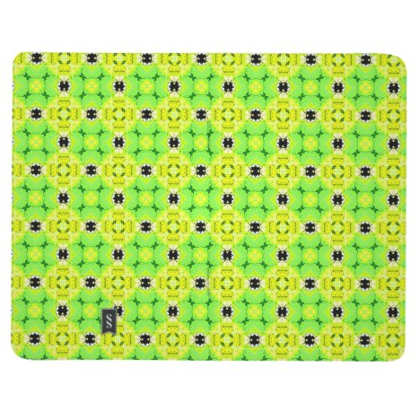 Circle Lattice of Floral Lime Green Modern Quilt Journal