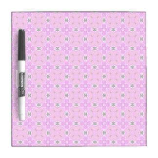 Circle Lattice of Floral Pink Violet Modern Quilt Dry-Erase Boards
