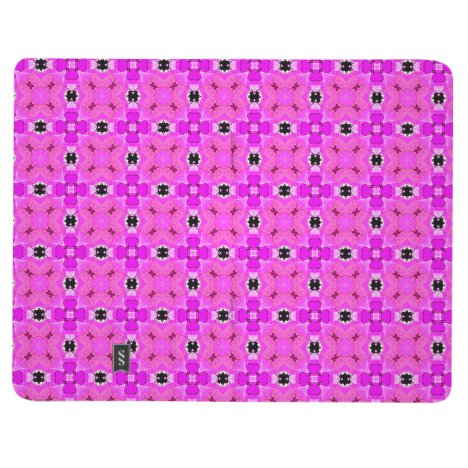 Circle Lattice of Floral Pink Violet Modern Quilt Journal