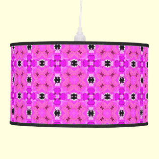 Circle Lattice of Floral Pink Violet Modern Quilt Ceiling Lamps