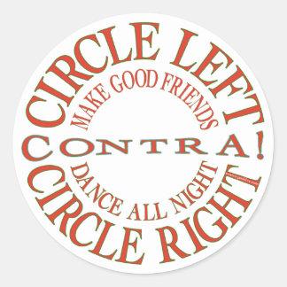 Circle Left, Circle Right Classic Round Sticker