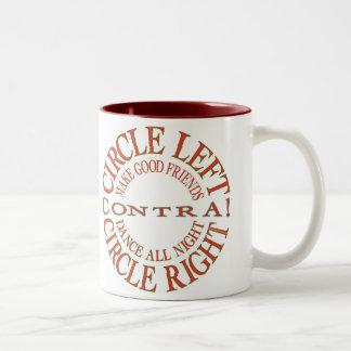Circle Left, Circle Right Two-Tone Coffee Mug