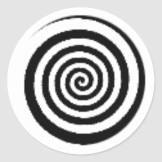 circle maze classic round sticker