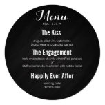 Circle menu - story of our love 5.25x5.25 square paper invitation card