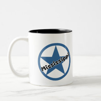 Circle Mississippi Two-Tone Coffee Mug