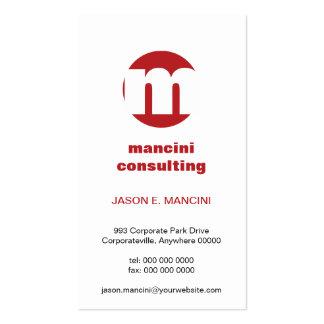 Circle Monogram Business Card