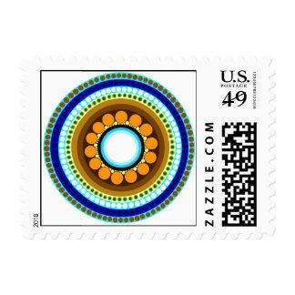 Circle Motif #214 Postage Stamp