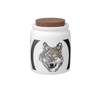 circle never cry wolf candy jar