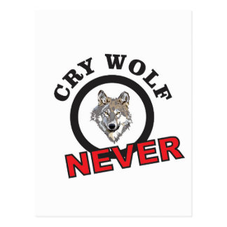 circle never cry wolf postcard