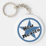 Circle New Mexico Basic Round Button Keychain