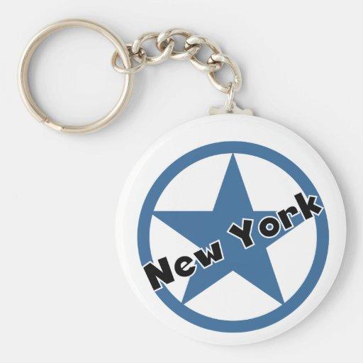Circle New York Keychain