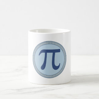 Circle number of pi circular constant coffee mug