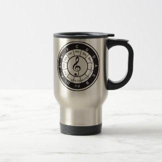 Circle of 5th 15 oz stainless steel travel mug