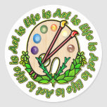 Circle Of Art And Life Classic Round Sticker