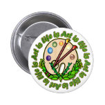 Circle Of Art And Life Pinback Buttons