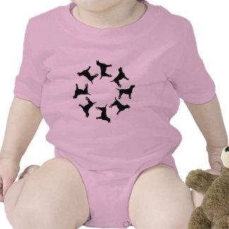 Circle of Black Labs Baby Bodysuit