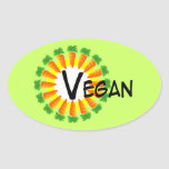 Circle of Carrots Sun Vegan Stickers