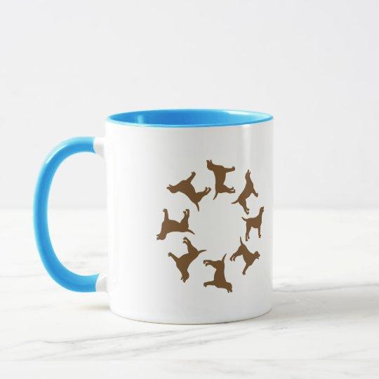 Circle of Chocolate Labs Mug