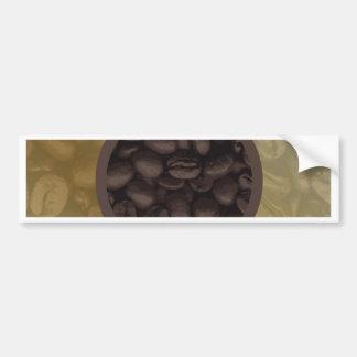 Circle Of Coffee Beans Bumper Sticker