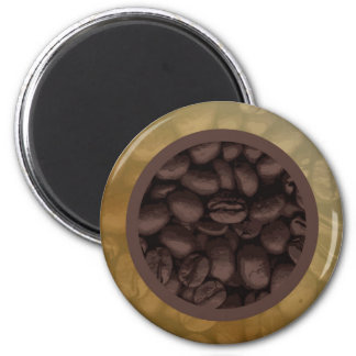 Circle Of Coffee Beans Magnet