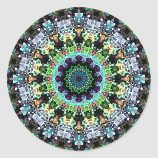 Circle of Colorful Symmetry Classic Round Sticker