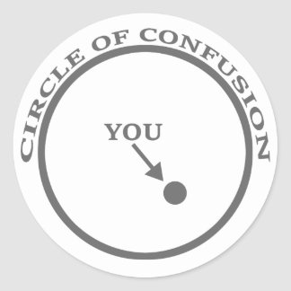 Circle of Confusion Classic Round Sticker