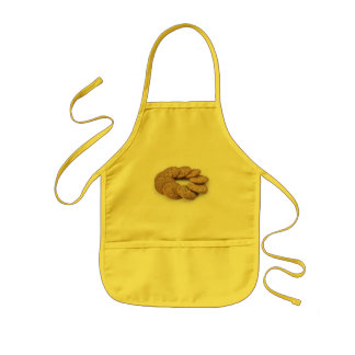 Circle of cookies on a white background kids' apron