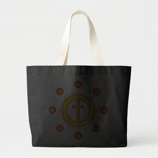 Circle of Crosses Jumbo Tote Bag