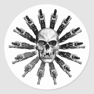 Circle of Death Round Stickers
