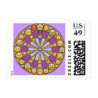 Circle of Emotions Postage Stamp
