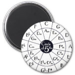 Circle Of Fifths 2 Inch Round Magnet