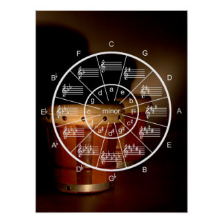 Circle of Fifths and Bongos for Musicians Poster