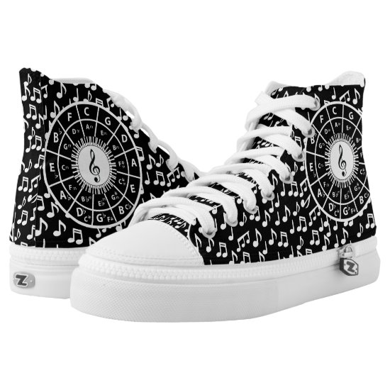 Circle of fifths and music notes sneakers
