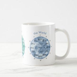 Circle of Fifths Color of Music Coffee Mug