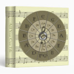 "Circle of Fifths Deco Gold 1.5"" Binder"