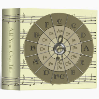 "Circle of Fifths Deco Gold 2"" Binder"