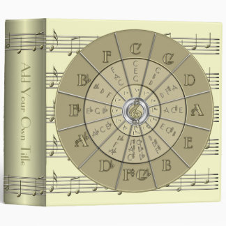 Circle of Fifths Deco Gold 2 Binder 2""