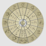 Circle of Fifths Deco Gold 2 Round Stickers