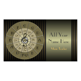 Circle of Fifths Deco Gold Business Cards