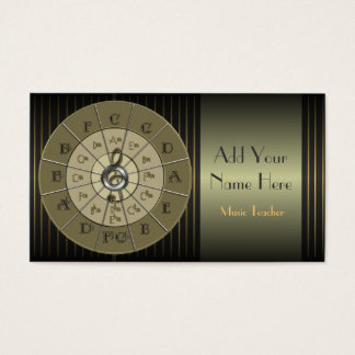 Circle of Fifths Deco Gold Business Card